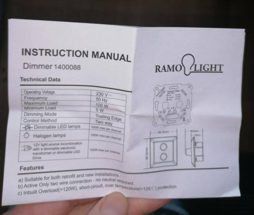 Ramolight DUO 2x100w Dimmer