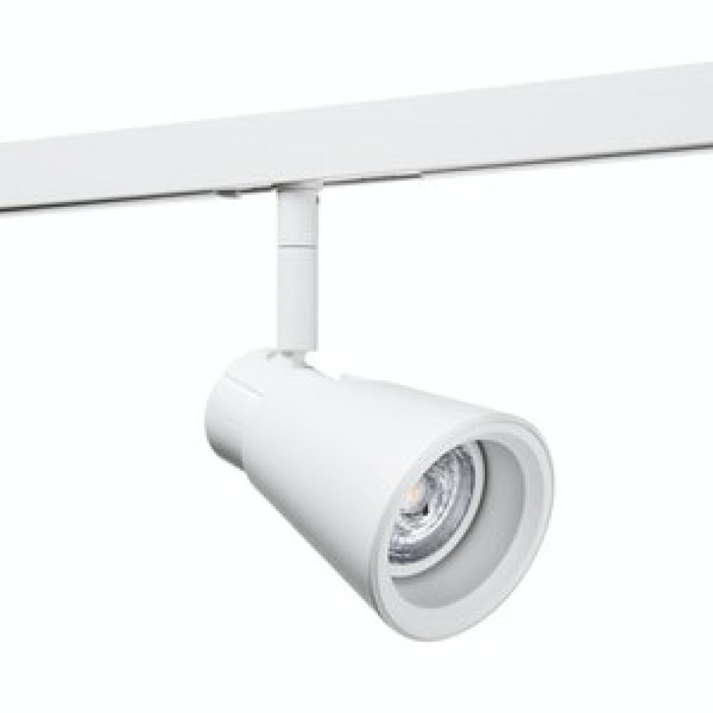 Zip zoom spot 6w LED Hvit+ZIP GLASS