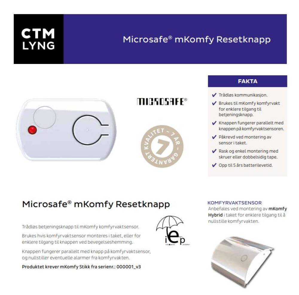 CTM Resettknapp
