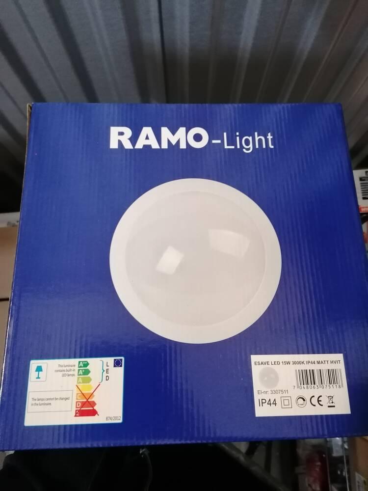 Ramolight e-save 15w Hvit/Grafitt